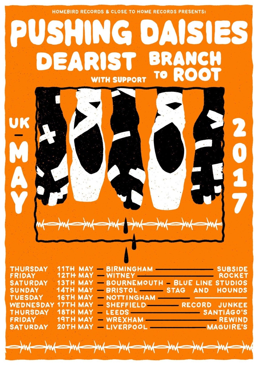 News: Pushing Daisies, Dearist and Branch To Root announce tour